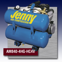 Jenny Portable Hand Carry Air Compressors Model AM840-HG-HC4V