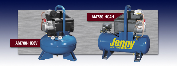 Jenny Portable Hand Carry Air Compressors Models AM780-HC6V and AM780-HC4H